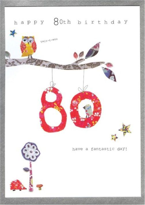 80th Birthday Cards Walk in the Park Scrapsalot – 80 Birthday Greetings
