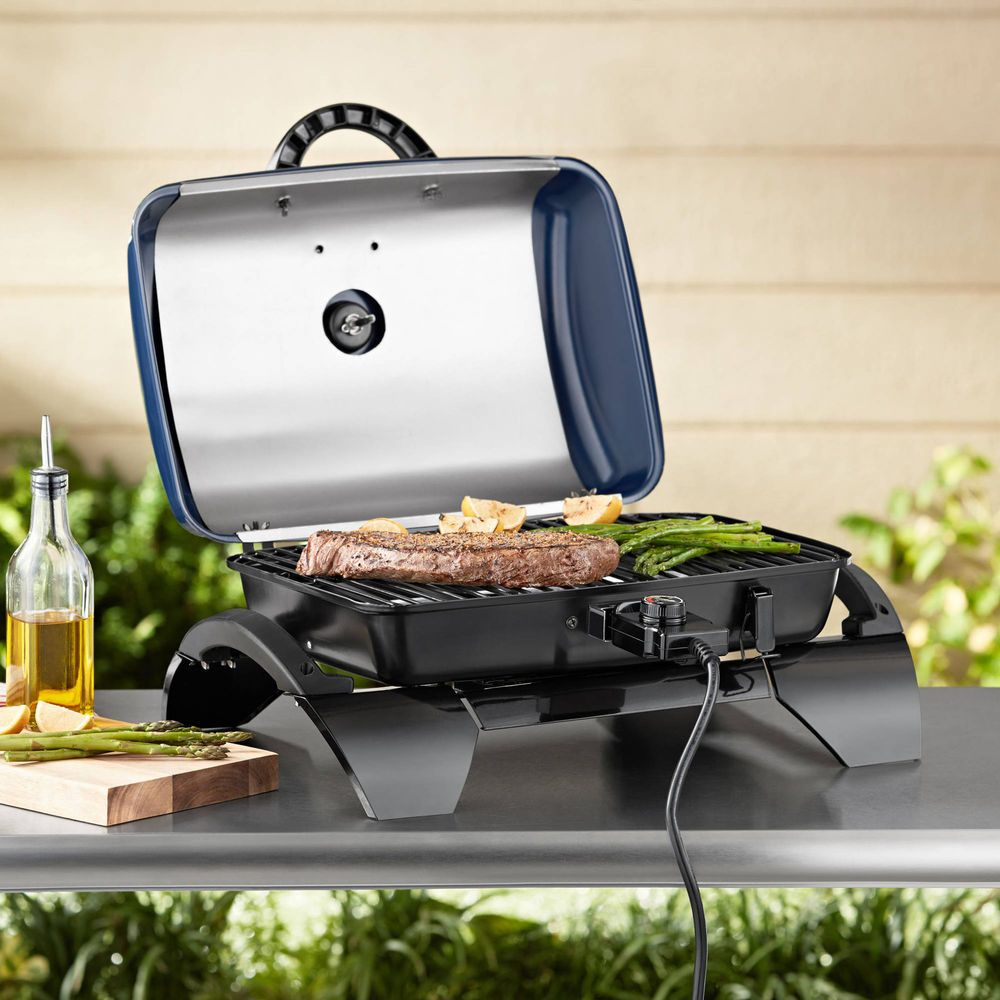Electric Grill Tabletop Square Adjustable Cooking Heat Temperature