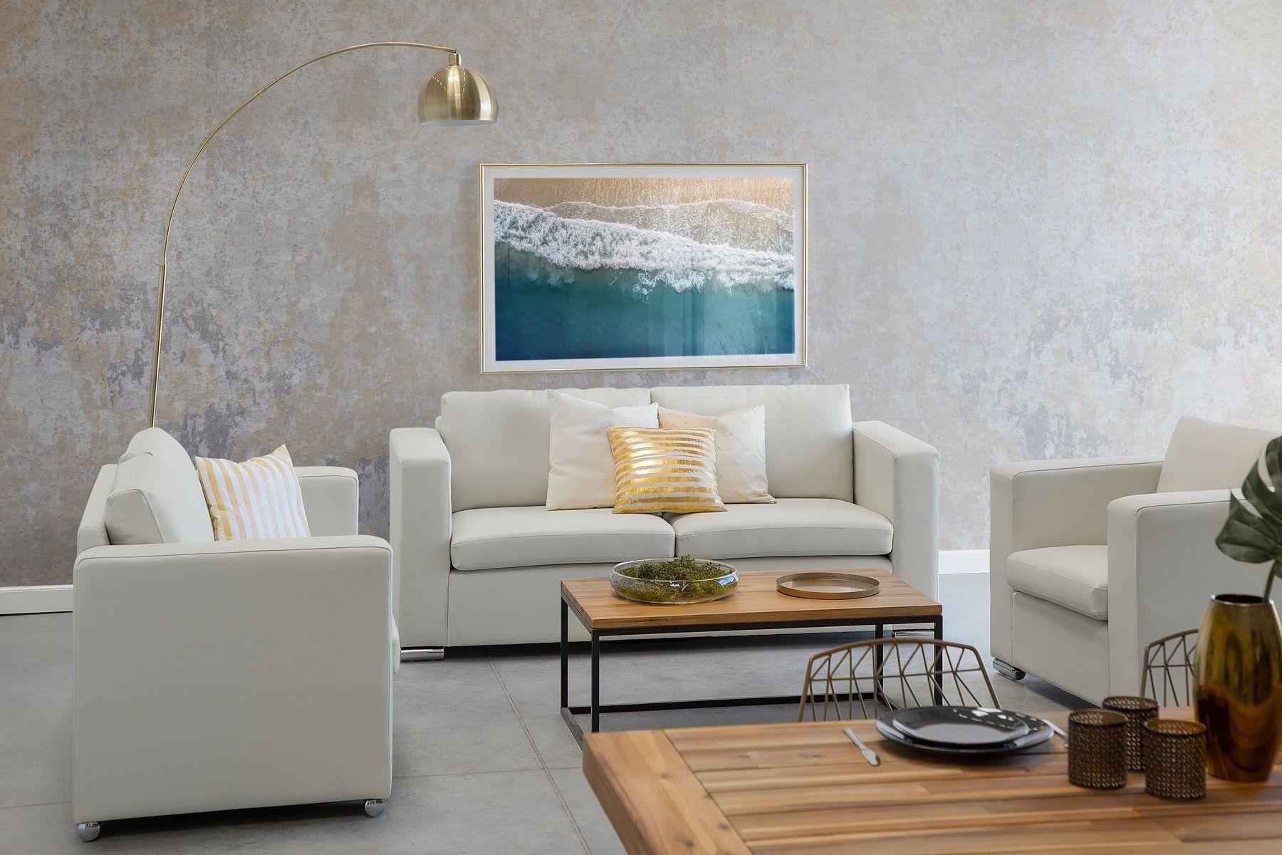 2 Sitzer Sofa Leder Beige Helsinki Outdoor Furniture Sets Home Furniture Sets
