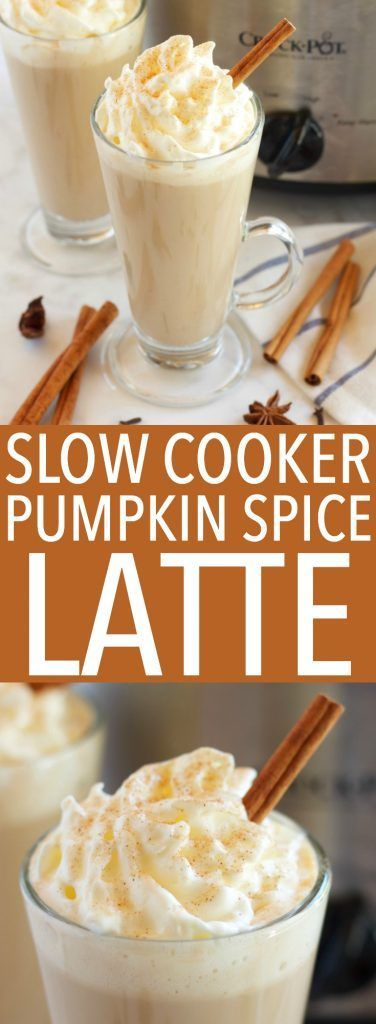 Slow Cooker Pumpkin Spice Latte (Crock Pot) - The Busy Baker