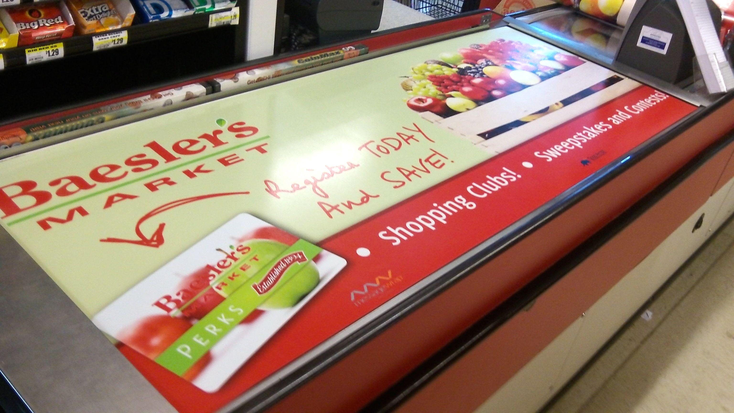Messagewrap Grocery Checkout Belt Advertising Conveyor Advertising Belt