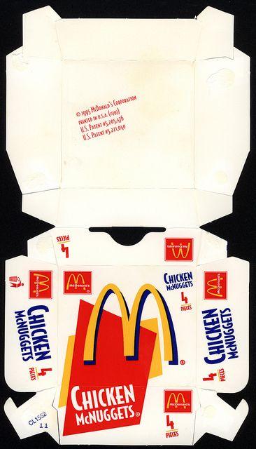 Mcdonald S Chicken Mcnuggets 4 Pieces Box 1995 By Jasonliebig