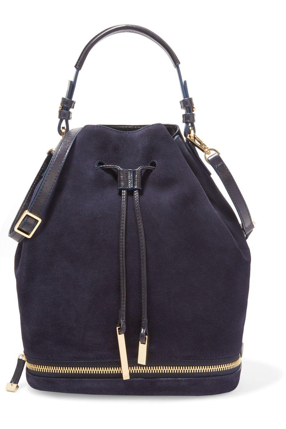 99f68b400c20 HALSTON HERITAGE Suede And Textured-Leather Bucket Bag.  halstonheritage   bags  shoulder bags  hand bags  bucket  suede