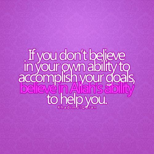 Wenn du nicht daran glaubst etwas zu schaffen, dann glaube ...