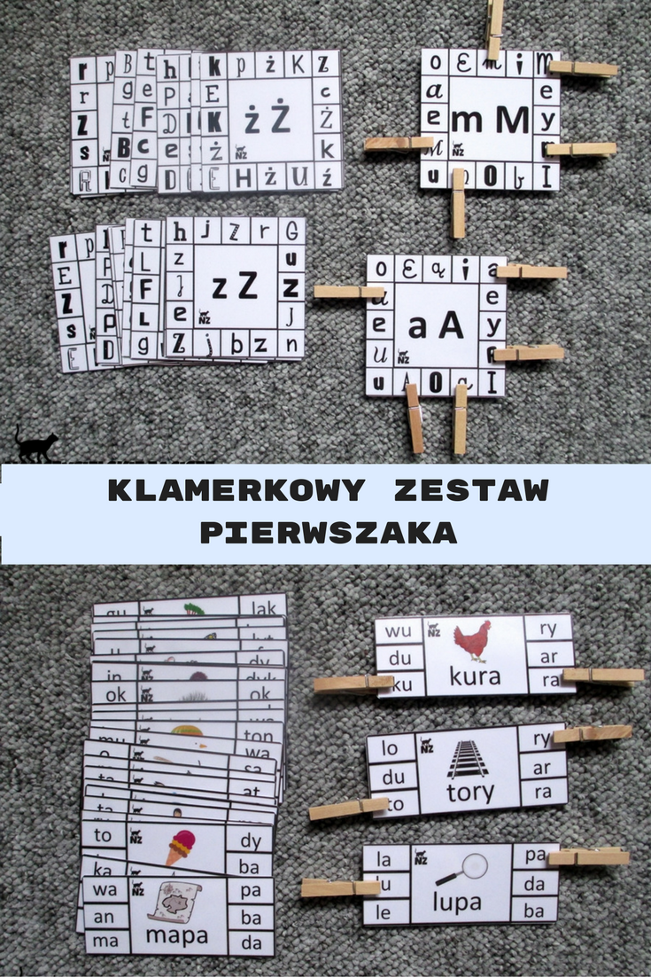 Klamerkowy Zestaw Pierwszaka Litery Sylaby Gloski Fun Education Kindergarden Activities Education