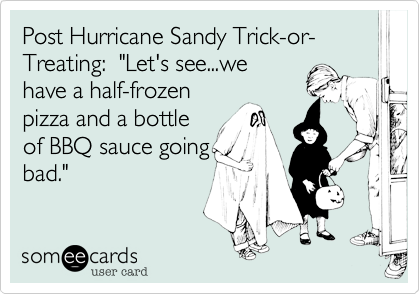 Post Hurricane Sandy Trick-or-Treating