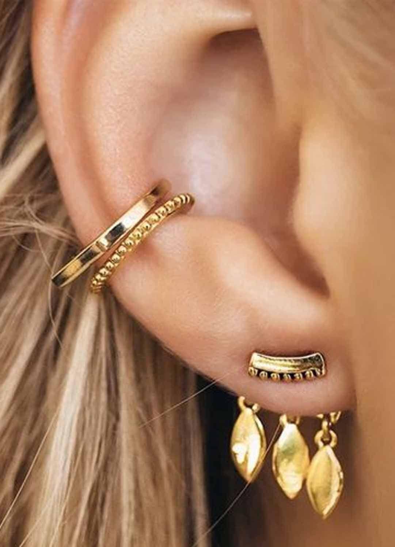 Ear piercing ideas simple  Cute SImple Ear Piercing Ideas at MyBodiArt  All the Way Up