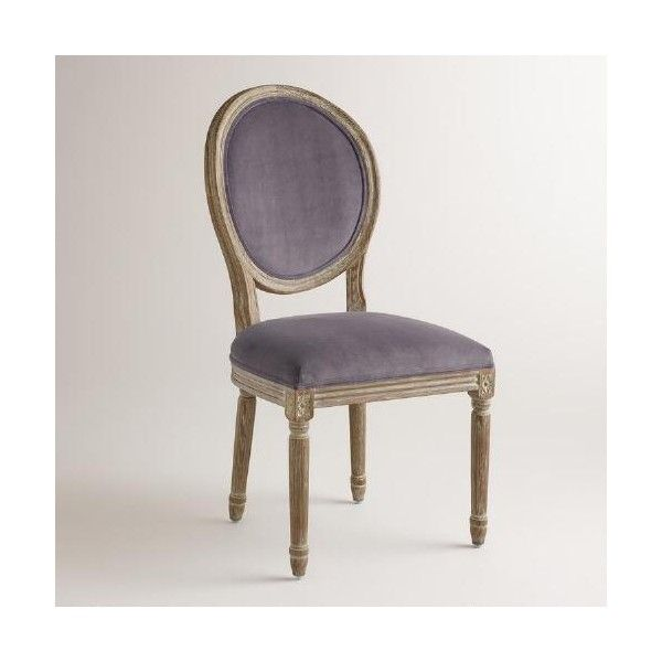 Cost Plus Chairs: Cost Plus World Market Plum Velvet Paige Round-Back Dining