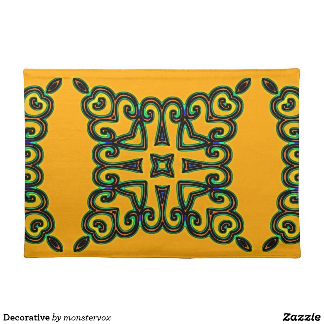 Decorative Placemat Decorative Ornament Design Home Decor Placemat Placemats Placemat Design Custom Placemats