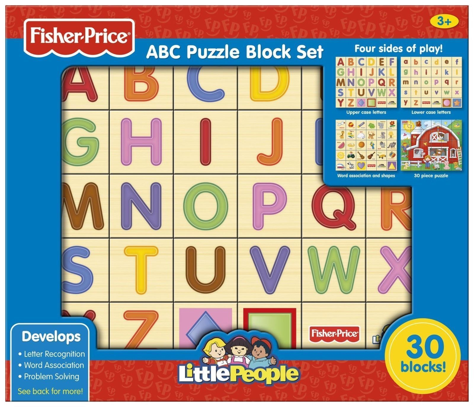 Alphabet And Language 145930 Fisher Price Abc Wooden Alphabet Puzzle Blocks Wood Set 30 Pieces Building Toys Buy It Now Only Abc Puzzle Abc Alphabet Abc