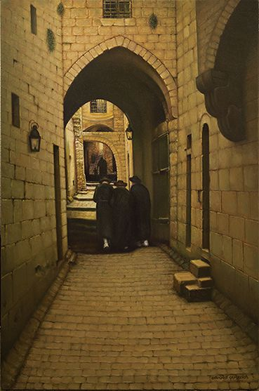 Old Jerusalem. Lane in Jewish Quarter. 100х64cm. oil on canvas. 3000$. You can make a Copy of this Picture, high quality printing on canvas.