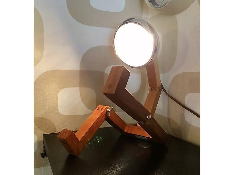 Lamp 'Mr Woody' (rood)