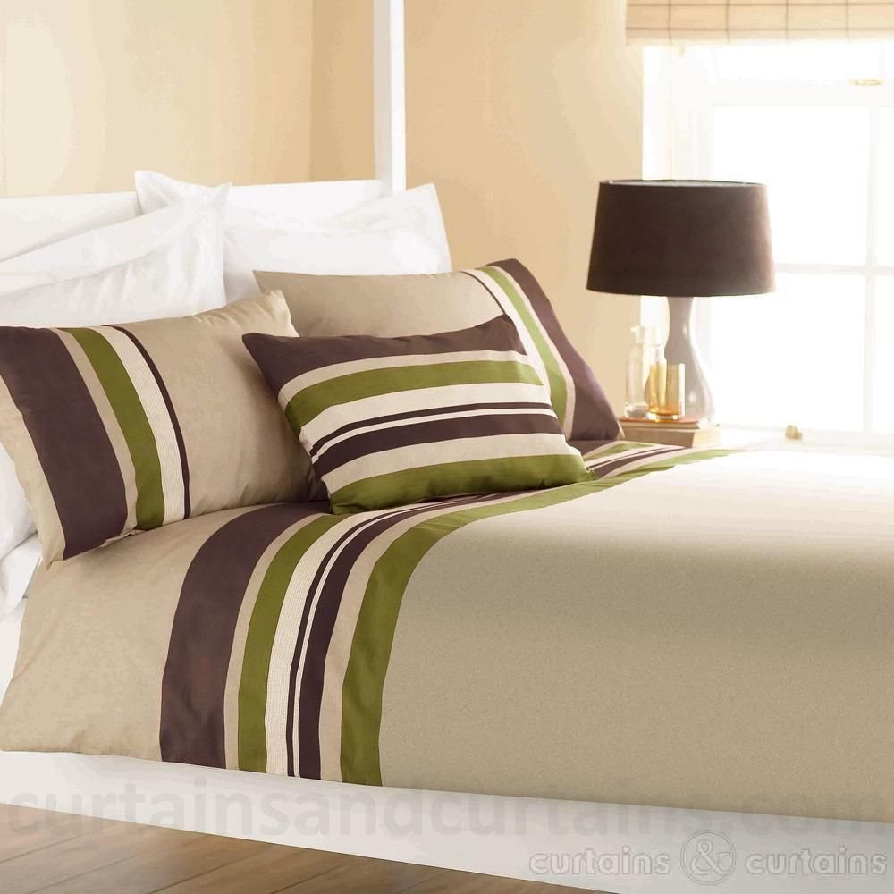 Bedroom Luxury Decorating Ideas Bedroom Curtains Blue Bedroom Flush Door Designs Master Bedroom Bed Designs: Yale Lime Green / Brown Striped Print Duvet Cover