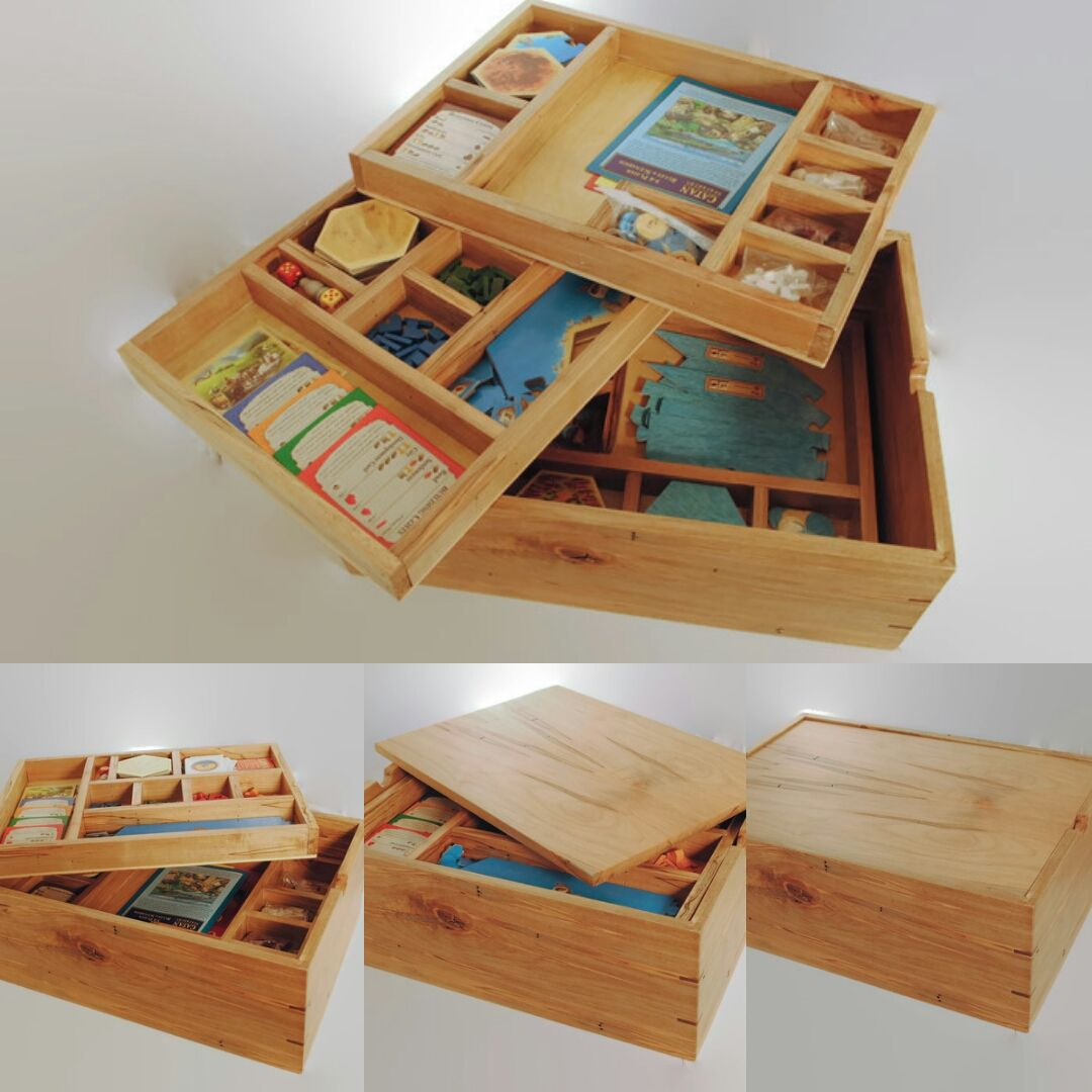 Settlers of Catan Storage box. Fits Catan base game, Seafarers ...
