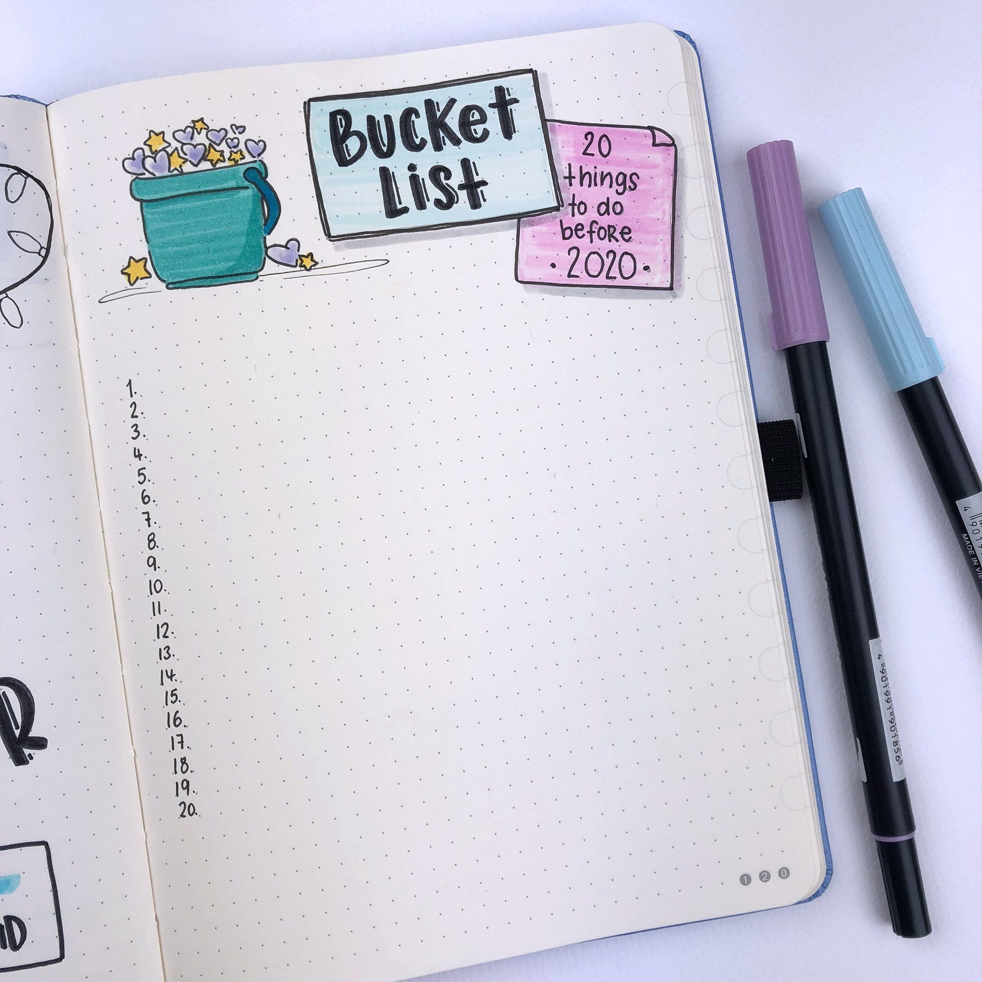 New Year's Resolutions in your Dingbats* Notebook Bullet