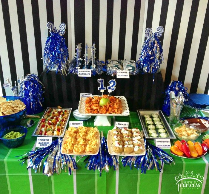 Dallas Cowboys Football Party Made By A Princess Dallas Cowboys Party Dallas Cowboys Birthday Party Cowboys Football Party