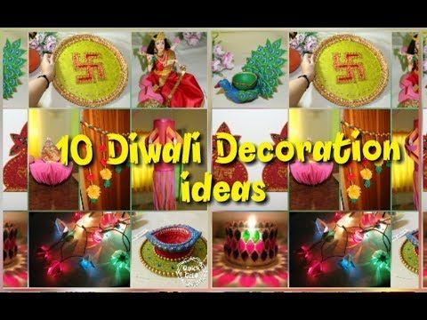 10 DIY/Creative Diwali Decorations Ideas/Home Decor for Diwali from waste/for school competitions. - YouTube #diwalidecorations 10 DIY/Creative Diwali Decorations Ideas/Home Decor for Diwali from waste/for school competitions. - YouTube #diwalidecorationsathome