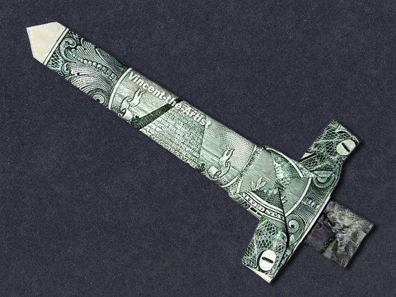 Dollar Origami Sword | Money Dollar Origami | Dollar ...