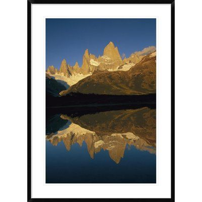 "Global Gallery 'Fitzroy Massif Reflection at Dawn' Framed Photographic Print Size: 42"" H x 30"" W x 1.5"" D"