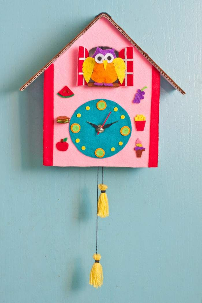 Diy Cuckoo Clock Clock Craft Clock For Kids Crafts