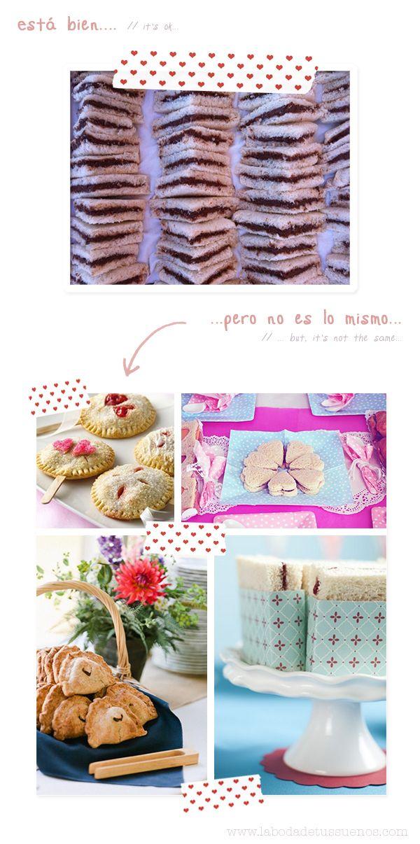 La importancia de saber presentar las cosas… // How to display sweets and drinks…