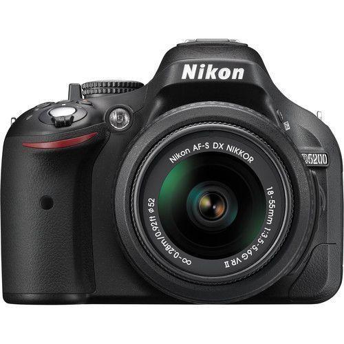 Nikon D5200 Dslr Camera Black W 18 55mm Vr Ii Lens Nikon D5200 Nikon Digitale Camera