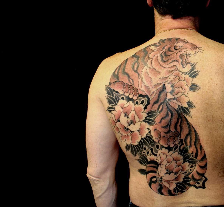 Resultado de imagen para tatuaje tigre japones