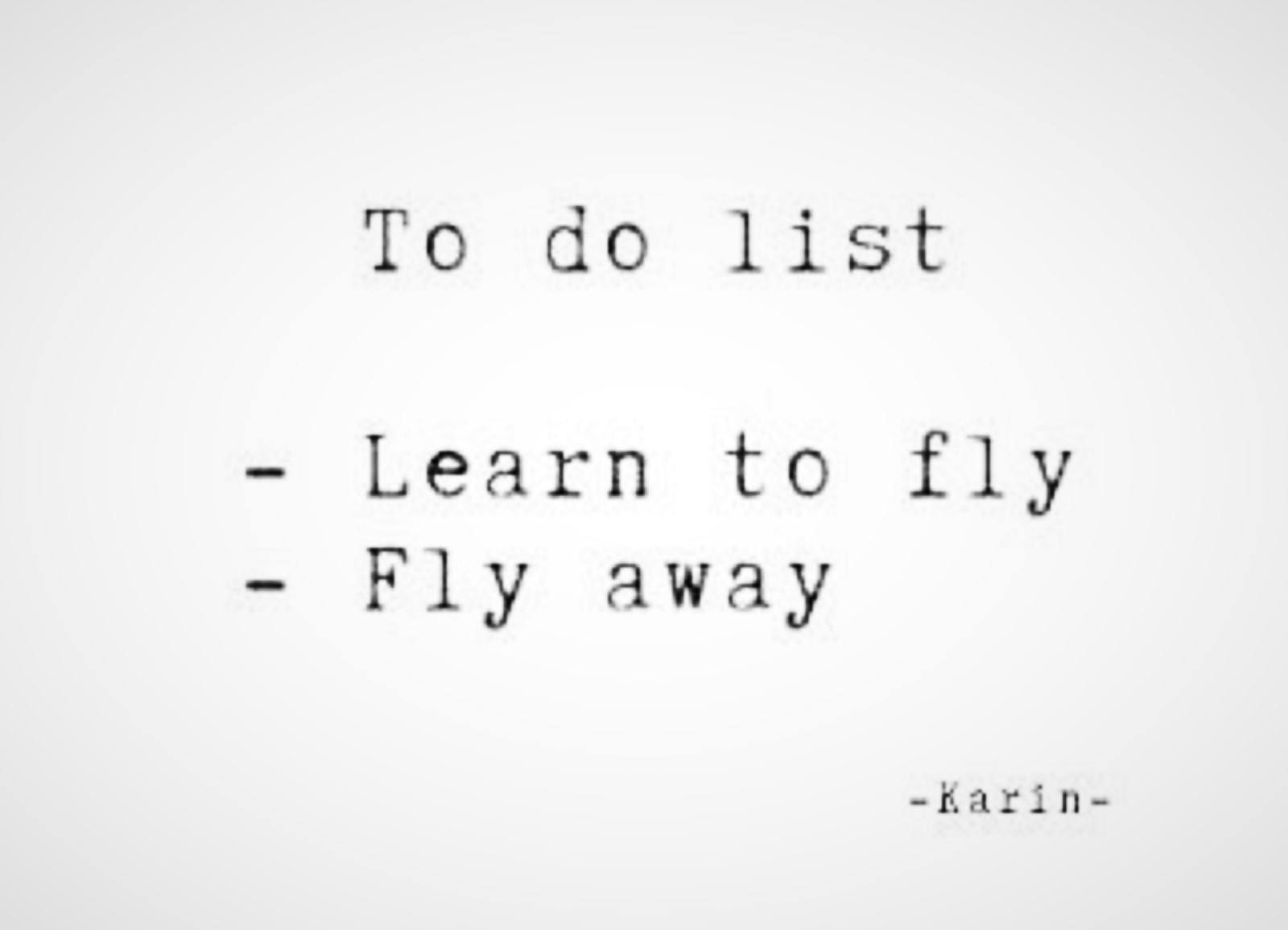 To Do List Learn To Fly Fly Away Fly Quotes Words Boxing Quotes