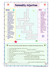 10 Personality Adjectives to use in a crossword-puzzle and a gap ...