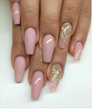Soft Pink Gold Matte Nails Blush Pink Nails Pink Acrylic Nails Blush Nails