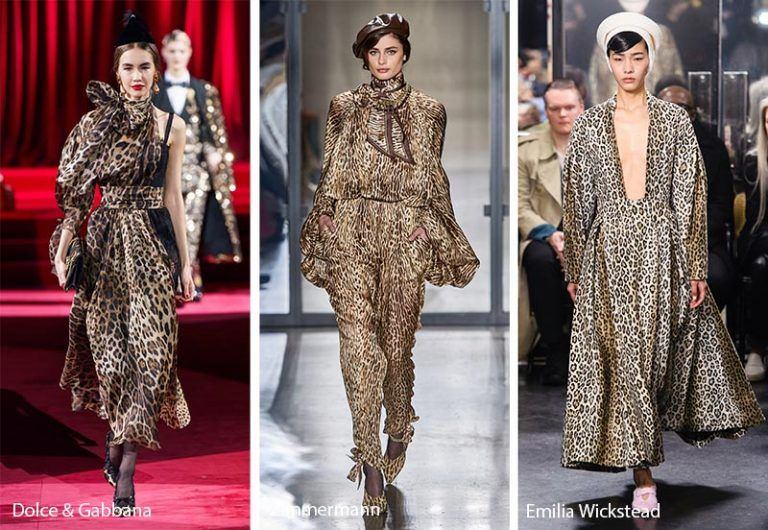 Fall/ Winter 2020-2021 Print Trends | Print trends, Leopard trend, Runway pattern