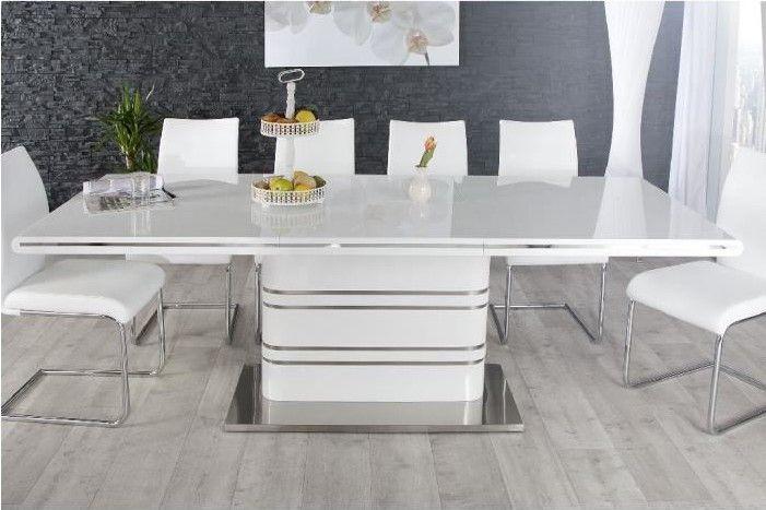 Table A Manger Cdiscount.Table De Repas Design Losane Extensible Blanc Pas Cher