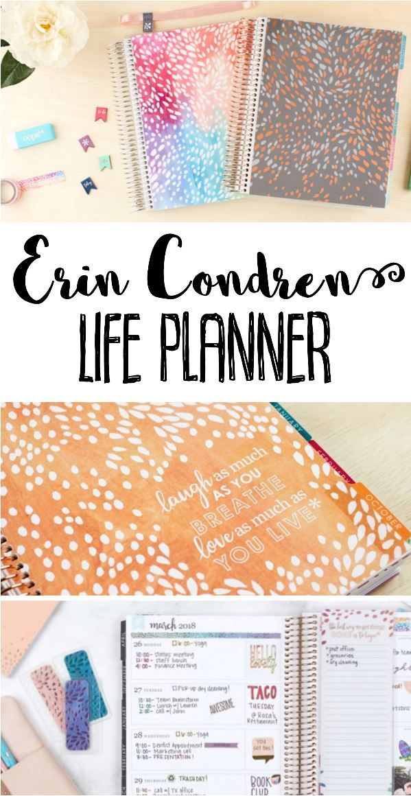 Erin Condren planners are the BEST! Customize your own life planner