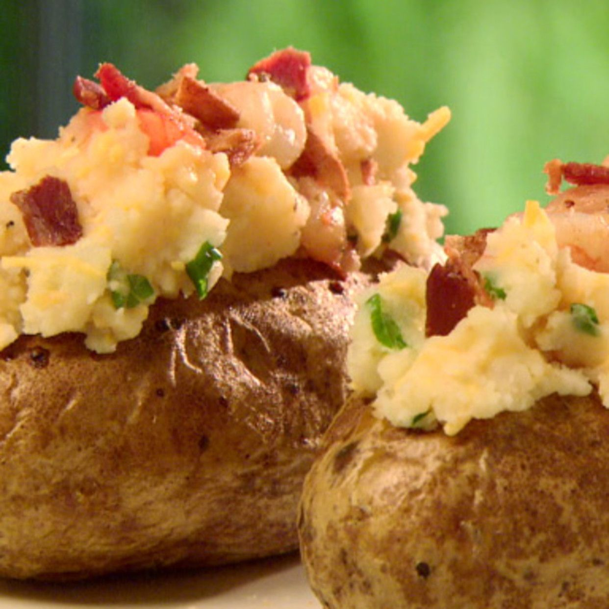 Deluxe Twice Baked Potatoes with Shrimp | Recipe | Twice ...