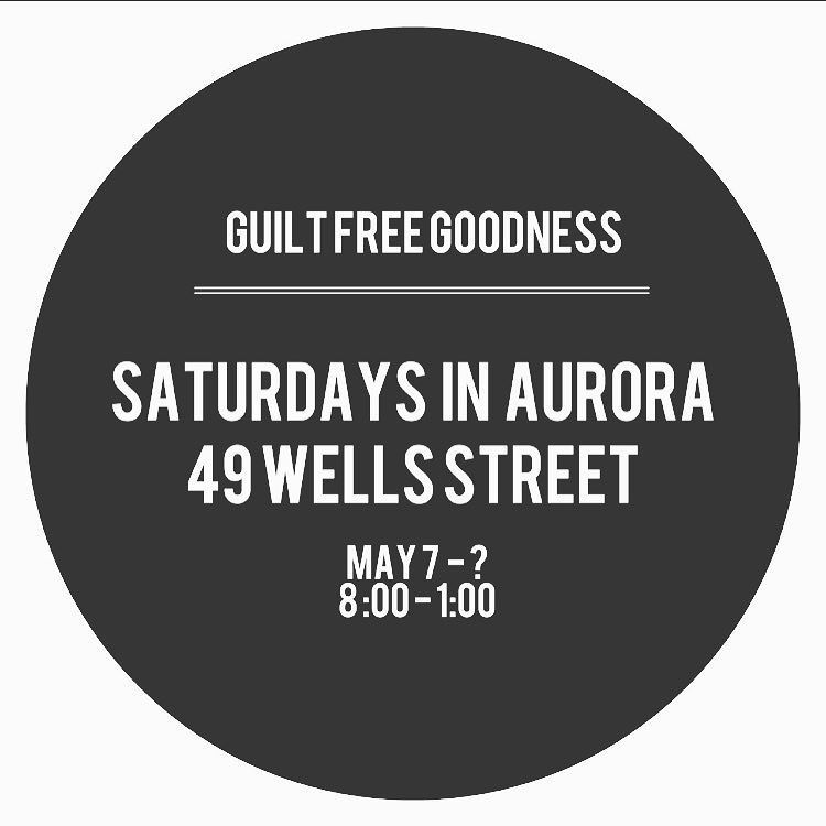Come visit us in Aurora tomorrow! by theguiltfreegoodness