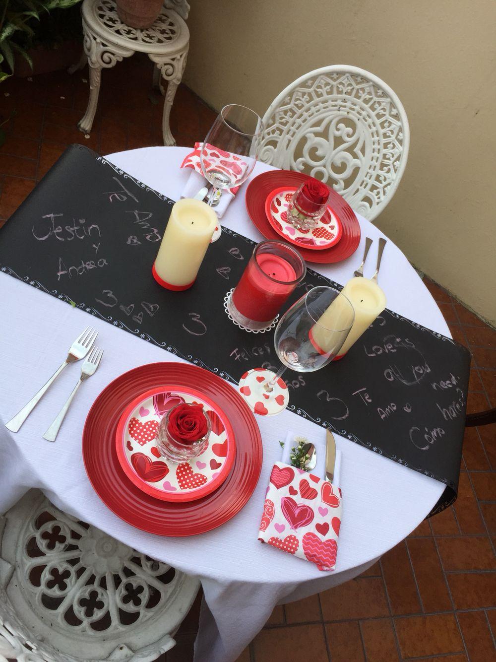 Decoraci n de mesa para cena rom ntica cena s - Decoracion cena romantica ...