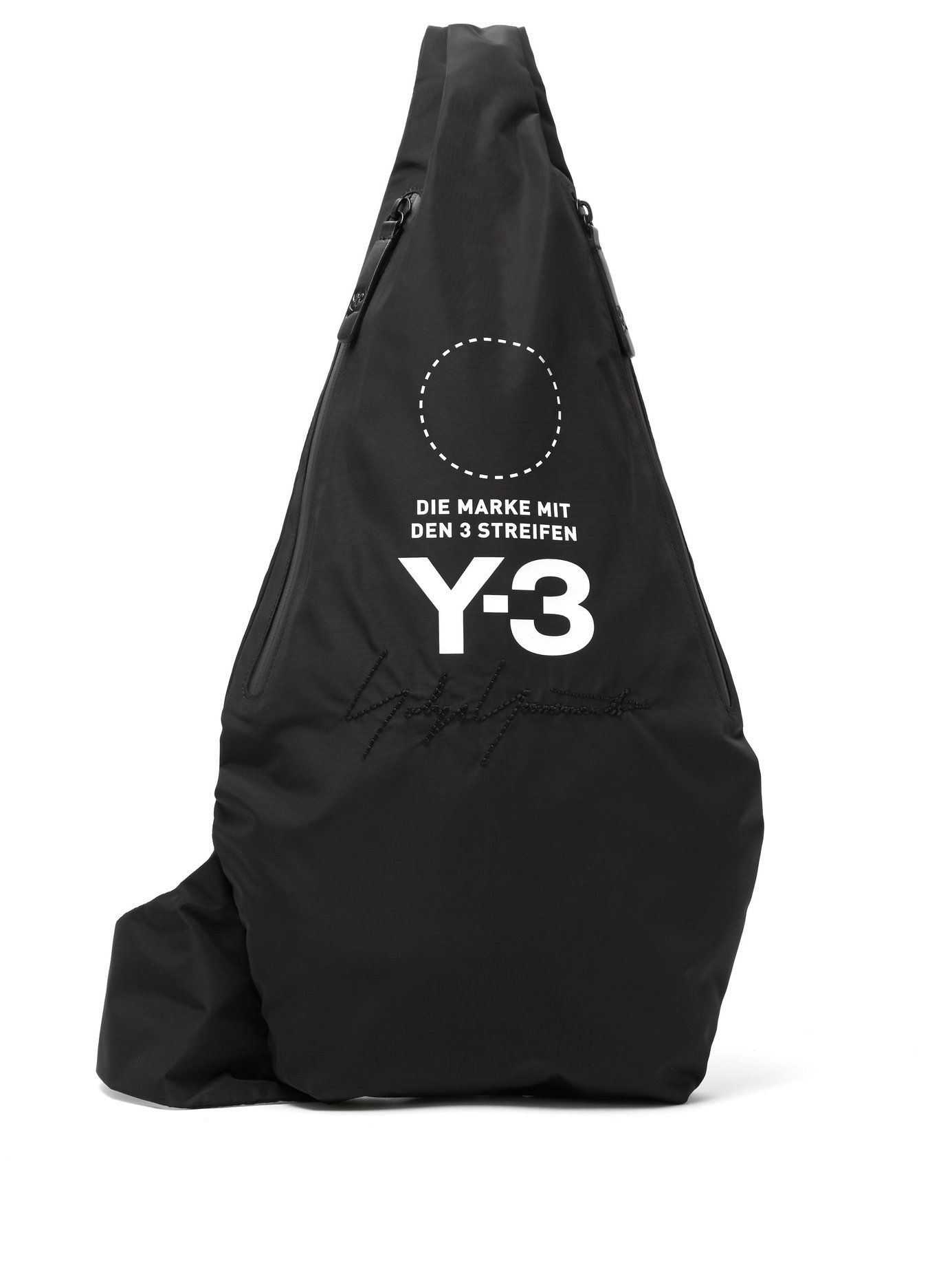 44e6e938d Yohji Signature nylon cross-body bag