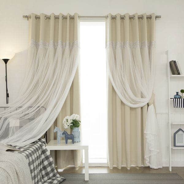 Merveilleux Maintain The Natural Look And Feel Of Your Room With This Elegant Curtain  Panel Set. The Curtain Set Features A Hint Of Beige At The Top And A Touch  Of ...