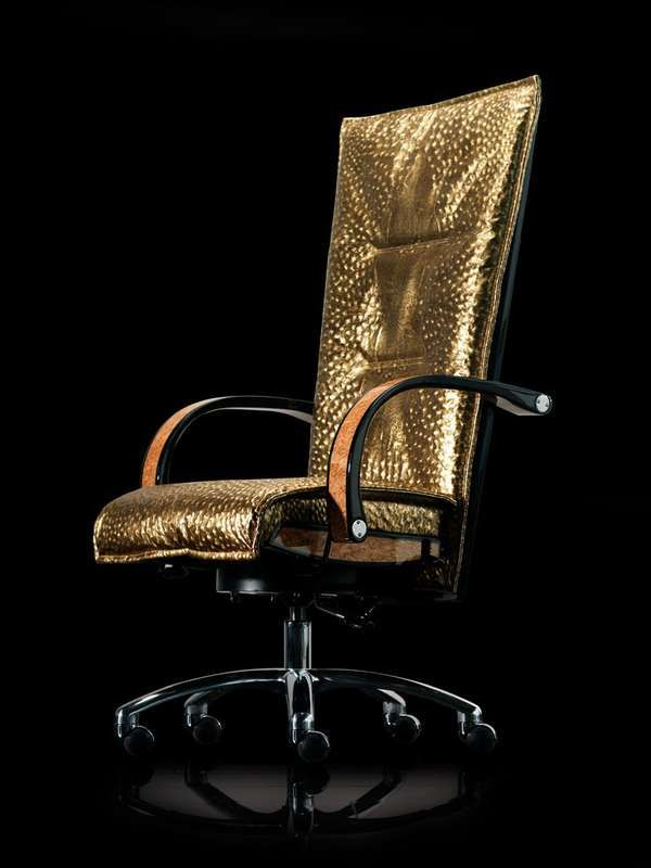 $25,000 gold leather mansory office chair? well, you gotta sit