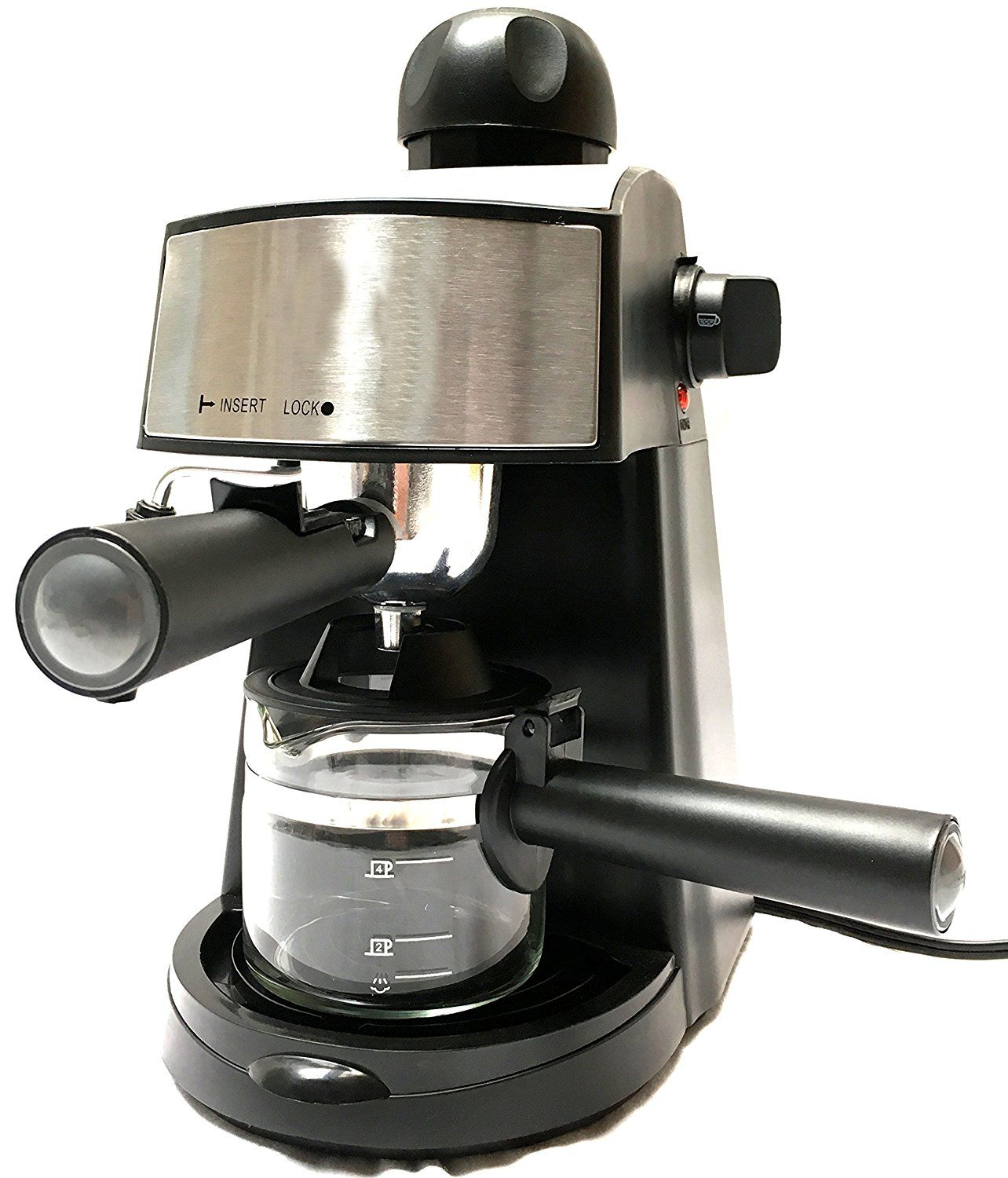 Espresso and Cappuccino Machine Coffee Hot Drinks Maker Cool-Touch Handle 20 oz
