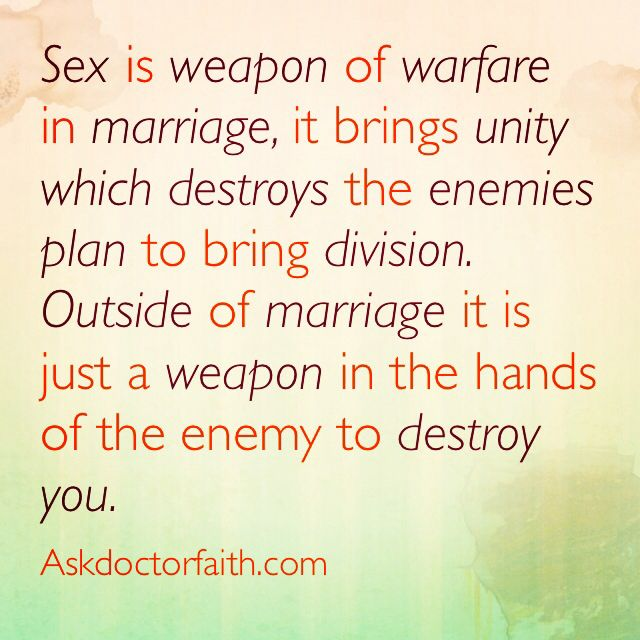 sex as a weapon in marriage