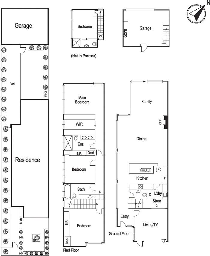 Townhouse floor plan elwood melbourne apartment for Apartment floor plans melbourne