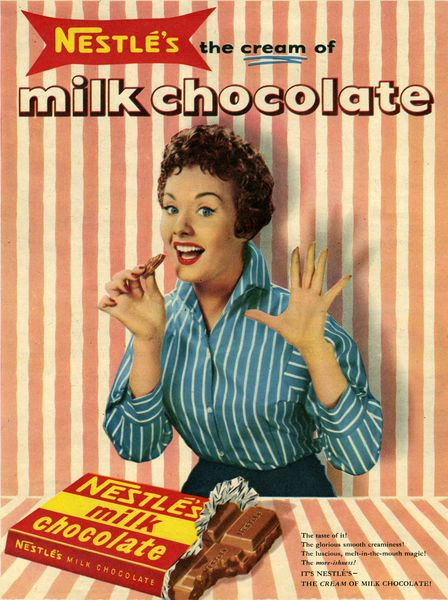 1950s UK Nestle's Magazine Advertisement Giclee Print