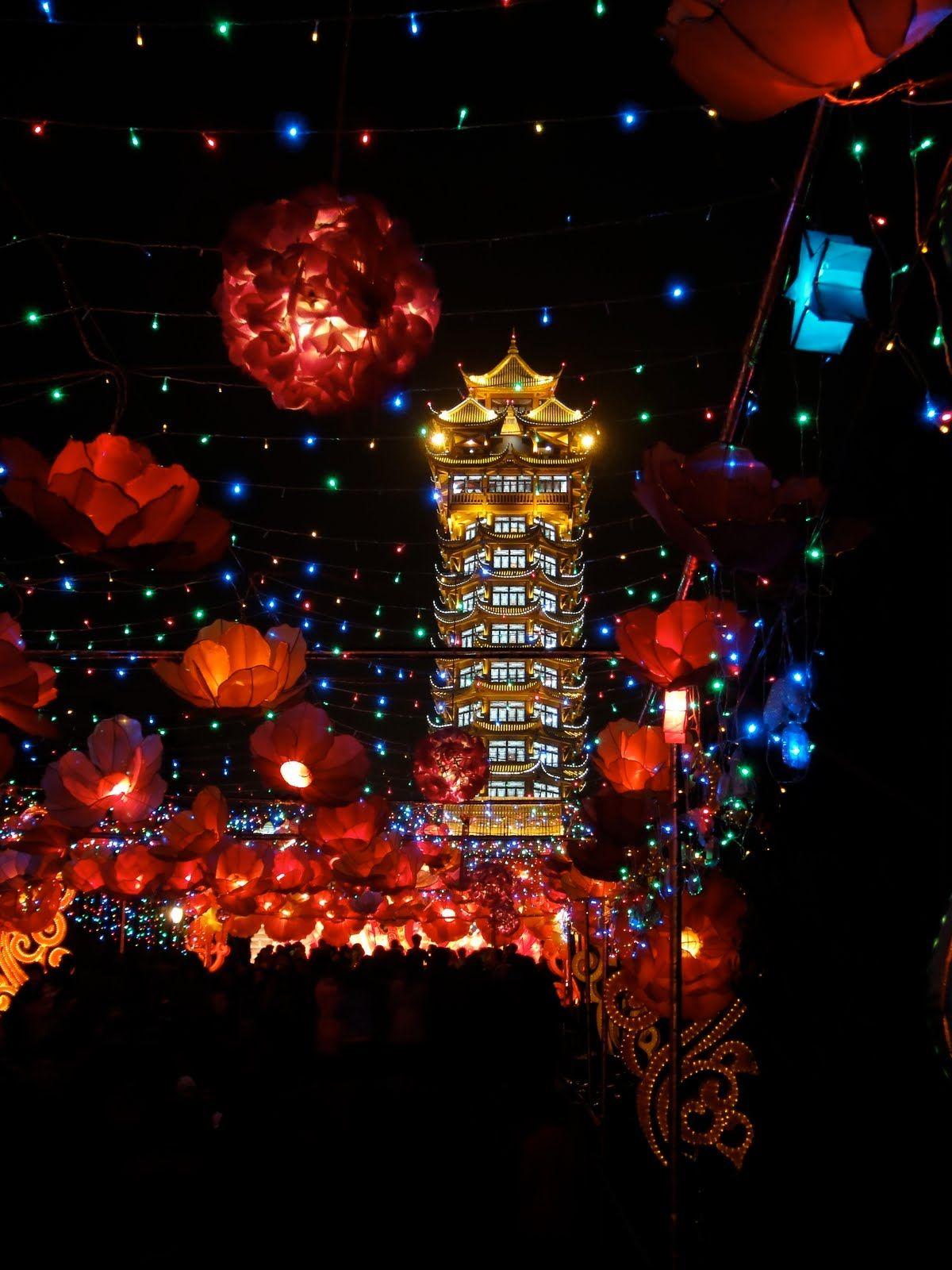 Chengdu China Lantern Festival. Beautiful!