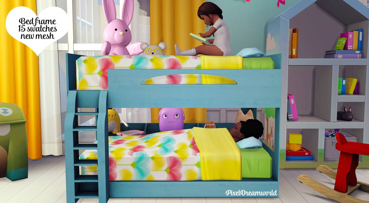 Pixeldreamworld Functional Toddler Bunk Bed Frame Zero