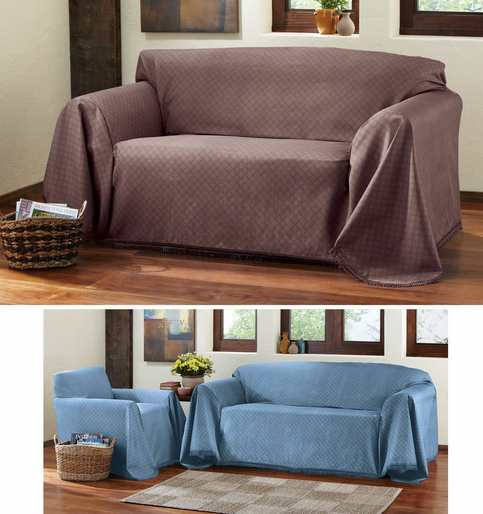 Diamond Matrix Furniture Couch Throw Cover For Sofa Love Seat Chair 3 Colors Sofa Slipcover Ideas Of So Couch Furniture Furniture Couch Covers Slipcovers