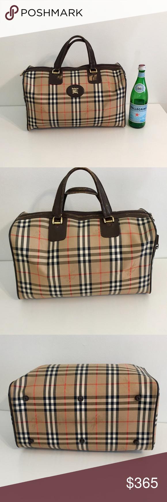 Authentic vintage. BURBERRYS unisex travel bag Authentic vintage unisex  luggage  carry on  Weekender 4c9a1c4385b6b