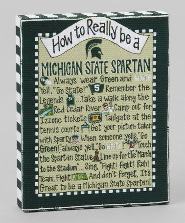 Take a look at this Michigan State 'How To' Magnet by Glory Haus on #zulily today!