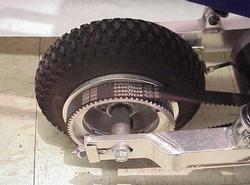 Rear Wheel With Belt