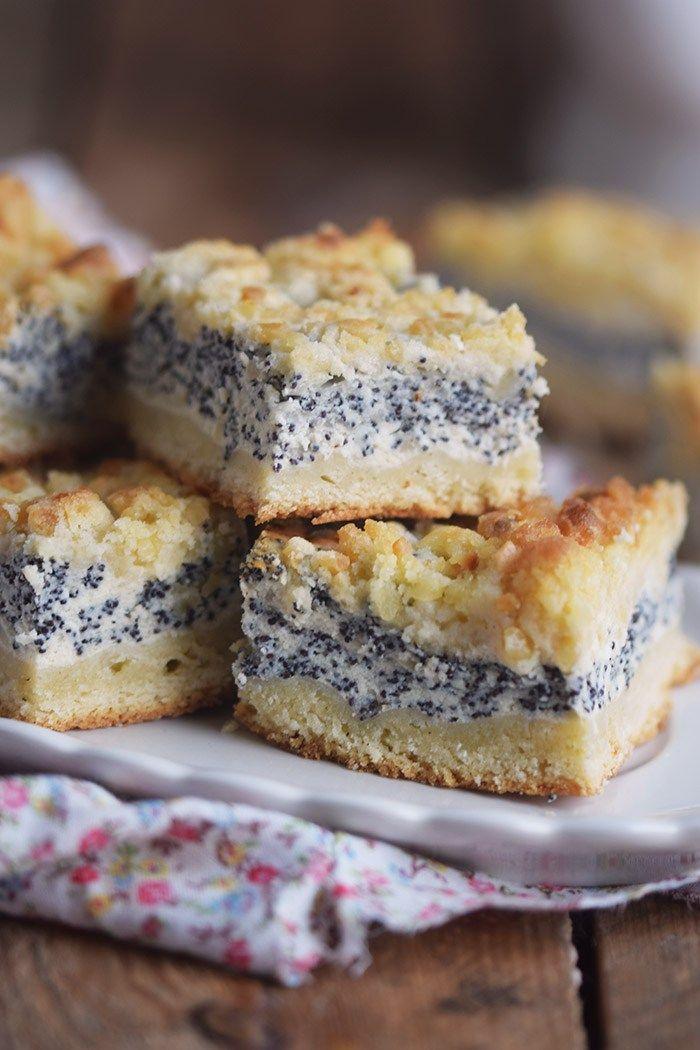 Mohn Streusel Quark Kuchen Poppy Seed Crumble Cheesecake Lecker